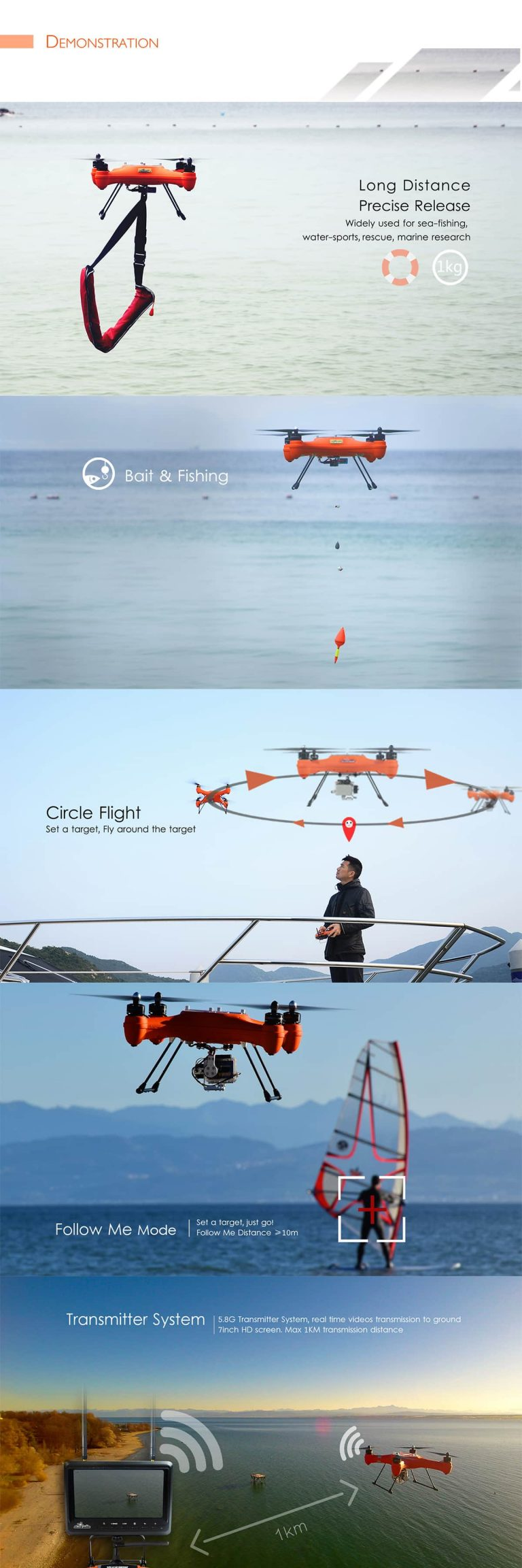 SwellPro Waterproof Drone Demo