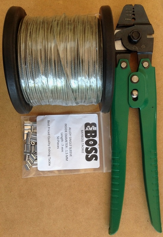 Steel Cable Amp Crimp Fishing Tackle Kit Drone Fishing