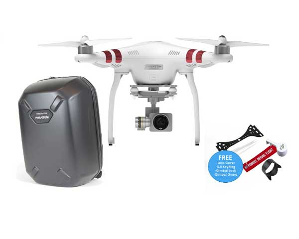 DJI Phantom 3 Standard with Backpack and FREE Accessories Pack
