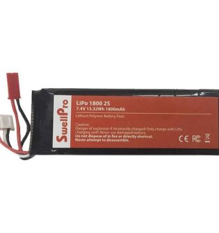 With a la1800 mAh LiPo Remote Batteryrge battery capacity, the SwellPro 2S 2300mAh LiPo Battery for Splash Drone 3 Plus is a handy solution for extending the runtime of your compatible drone's radio controller.
